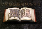 A facsimile copy of the Lindifarne Gospels, the original of which is in the British Museum. The volume was photographed on Cuthbert's tomb, but usually resides in the church museum where we  ...